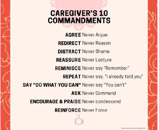 caregivers 10 commandments