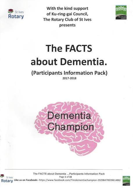 The Facts about dementia - cover